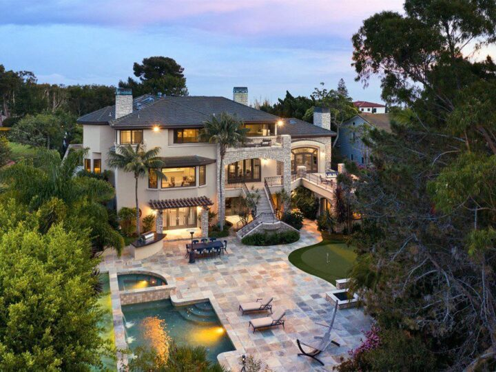 The La Jolla Home situated on a flat half acre of land in the heart of the Muirlands neighborhood offers ocean views now available for sale. This home located at 1260 Inspiration Dr, La Jolla, California; offering 5 bedrooms and 7 bathrooms with over 8,011 square feet of living spaces.