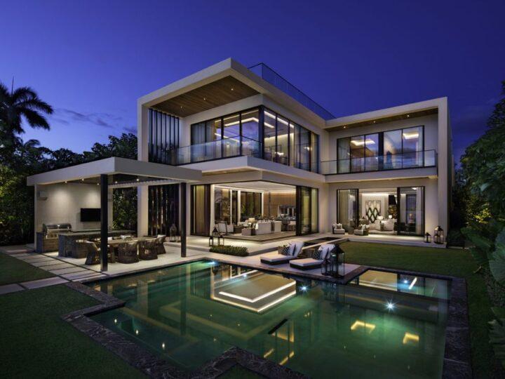 Miami Home with Uninterrupted-Stunning Bay & City Skyline Views by Bart Reines Luxury HomeBuilder