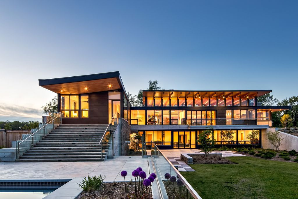 Millgrove House with Stunning views of Farmland by Toms+McNally Design