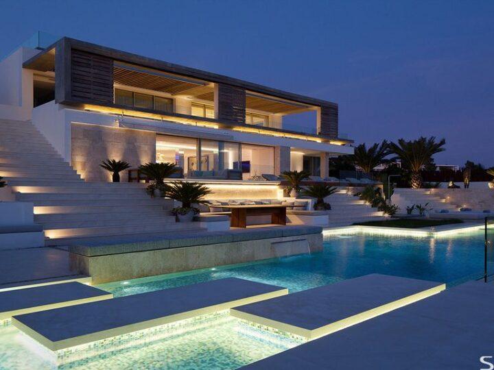 Modern Roca Llisa Villa Located in Breathtaking Ibiza in Spain by SAOTA