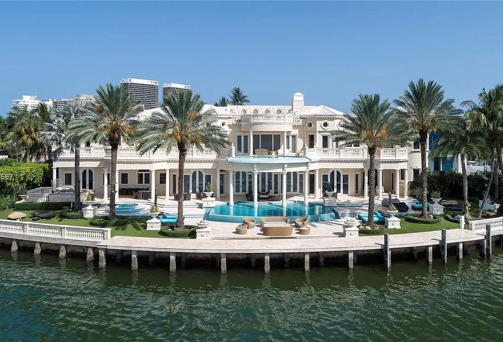The Florida Mansion is a palatial estate is designed like no other with Absolutely unparalleled in finishes, appointments now available for sale. This home located at 182 Bal Bay Dr, Bal Harbour, Florida; offering 8 bedrooms and 11 bathrooms with over 12,000 square feet of living spaces.