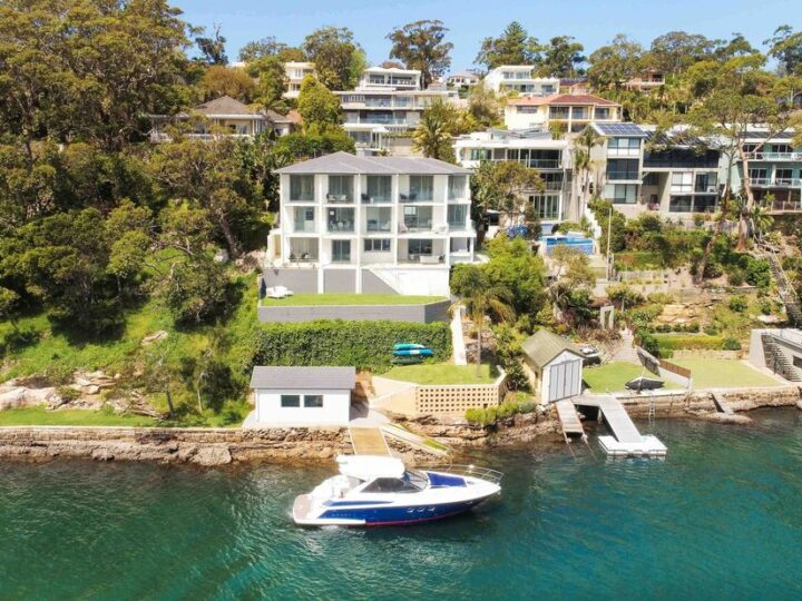 Pinnacle waterfront villa with three sublime levels at New South Wales for auction