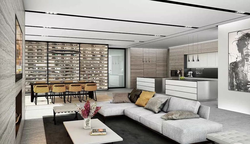 The Hollywood Hills Home is a project perched on its own generous flat pad that tower high above the street was conceptualized by CLR Design Group; it offers luxurious modern living of 11,000 square feet with 6 bedrooms and 9 bathrooms.