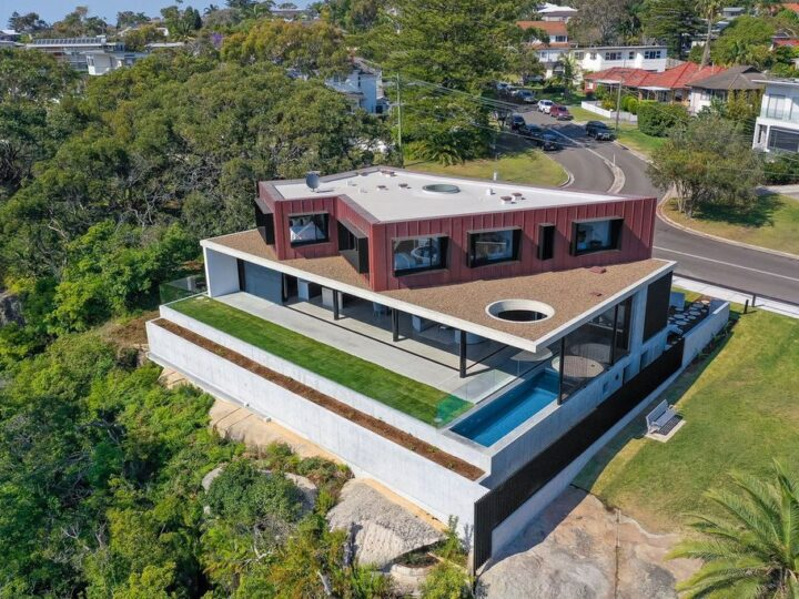 Striking home by Ian Bennett Design Studio in New South Wales for sale at $8,800,000