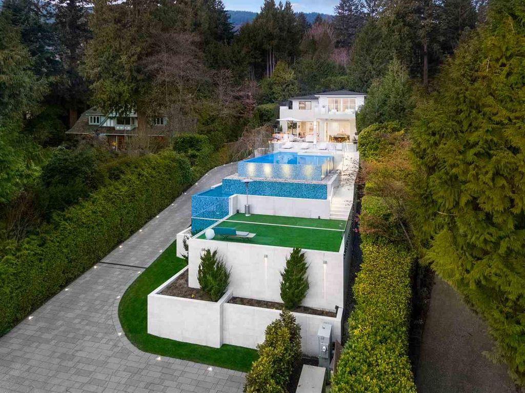 Stunning Mediterranean Inspired Luxury Residence in West Vancouver listed for C$22,000,000