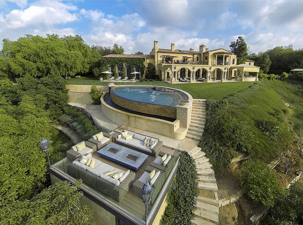 This $21,995,000 Exquisite Beverly Hills Mansion has Stunning Design and Dramatic Scale