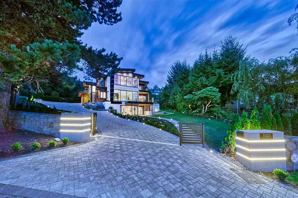 The Unique Family Home in West Vancouver is nestled on a fabulous flat prime corner lot with ocean views now available for sale. This home located at 1101 Groveland Rd, West Vancouver, BC V7S 1Z3, Canada