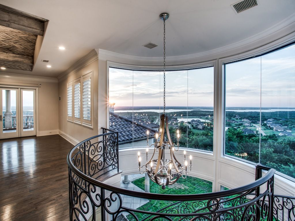 The Estate in Texas is an elegantly intimate masterpiece sitting atop one of the highest points for hundreds of miles now available for sale. This home located at 2449 Mountain View Ct, Cedar Hill, Texas