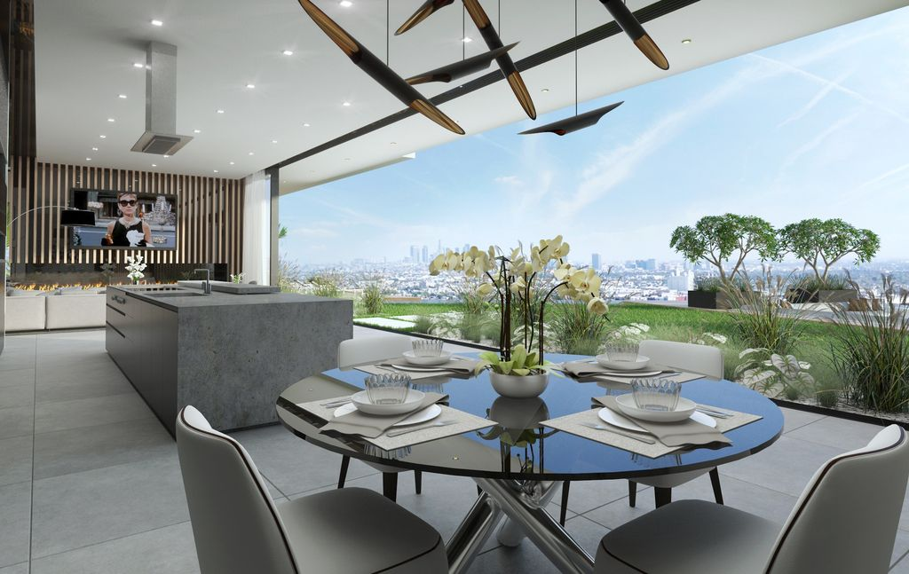 The Hollywood Hills Home is a project perched in the most prestigious location in Los Angeles was conceptualized by CLR Design Group;