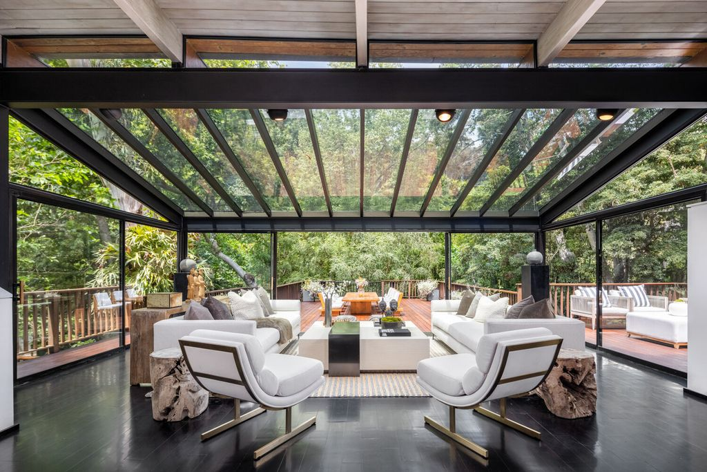 The Home in Santa Monica is a Rustic Canyon gem has been sensitively restored to its former glory with pine eaves now available for sale. This home located at 681 Brooktree Rd, Santa Monica, California