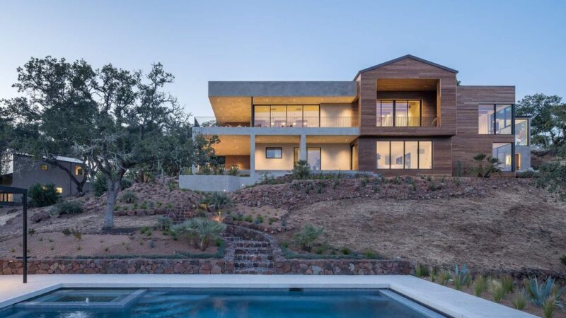 Experience Sophisticated Living in A $8,500,000 Glen Ellen Modern Home has Dramatic Views