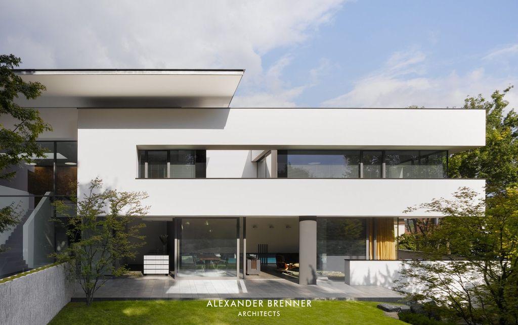 House Heidehof, an Elegant white Artwork by Alexander Brenner Architects