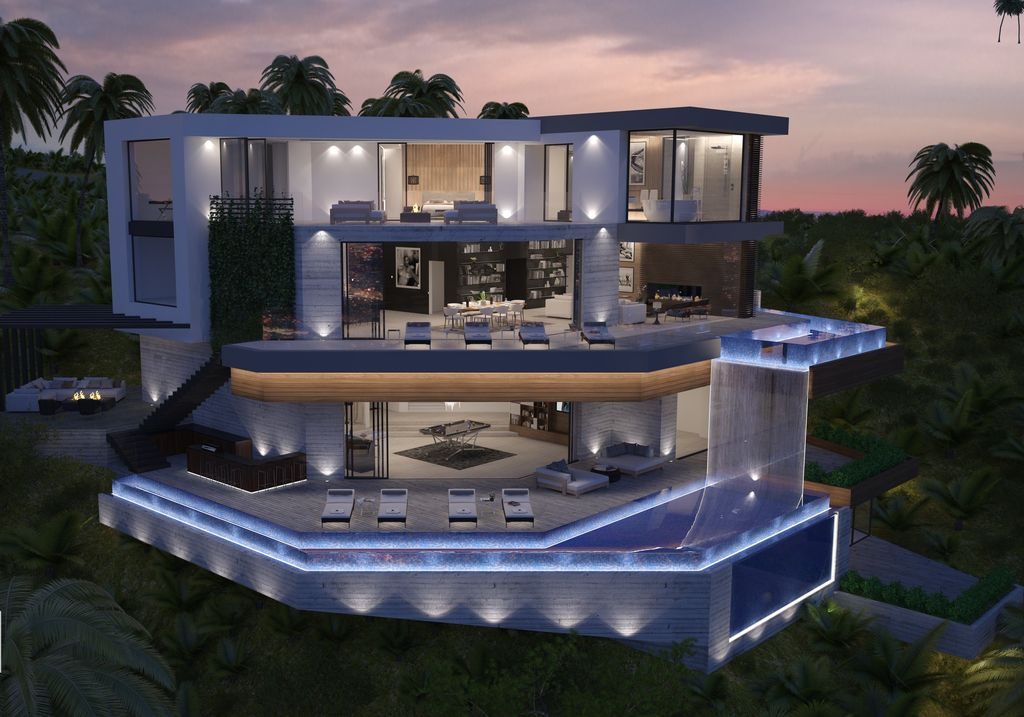 Beverly Hills Modern Home Concept is a project at the end of a cul-de-sac on one of the best promontories in Beverly Hills was designed in concept stage by Vantage Design Group