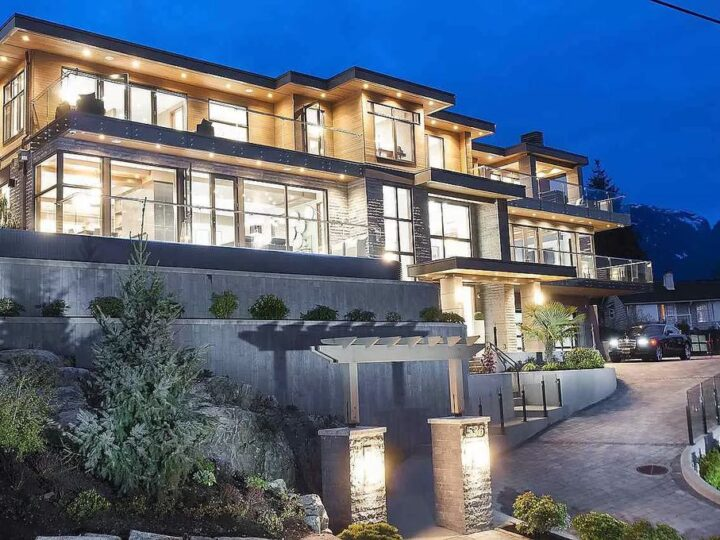 Remarkable Luxury Home in West Vancouver Enjoying Fantastic City and Ocean Views Lists for C$9,488,888