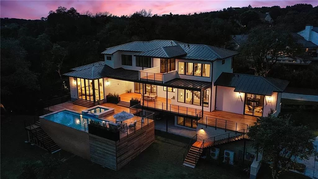 This $8,990,000 Stunning Austin Home brings Timeless Beauty to Contemporary Design