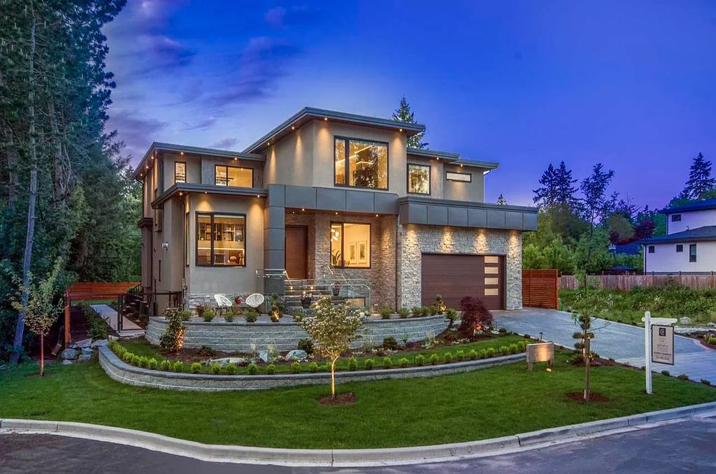 Timeless Sophistication Home in Surrey Offers Secluded Park-Style Living Asking for C$4,488,888