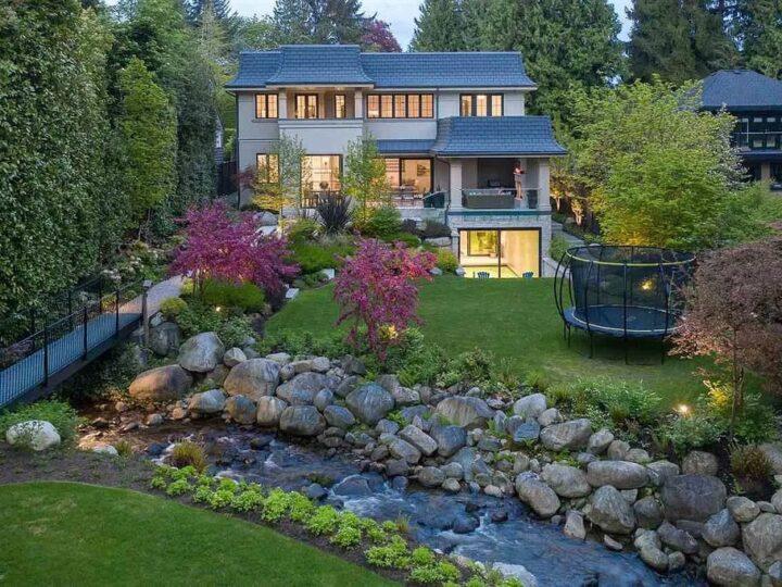 Understated Elegance Villa in West Vancouver Embracing Park-Like Landscapes Asks for C$10,989,000