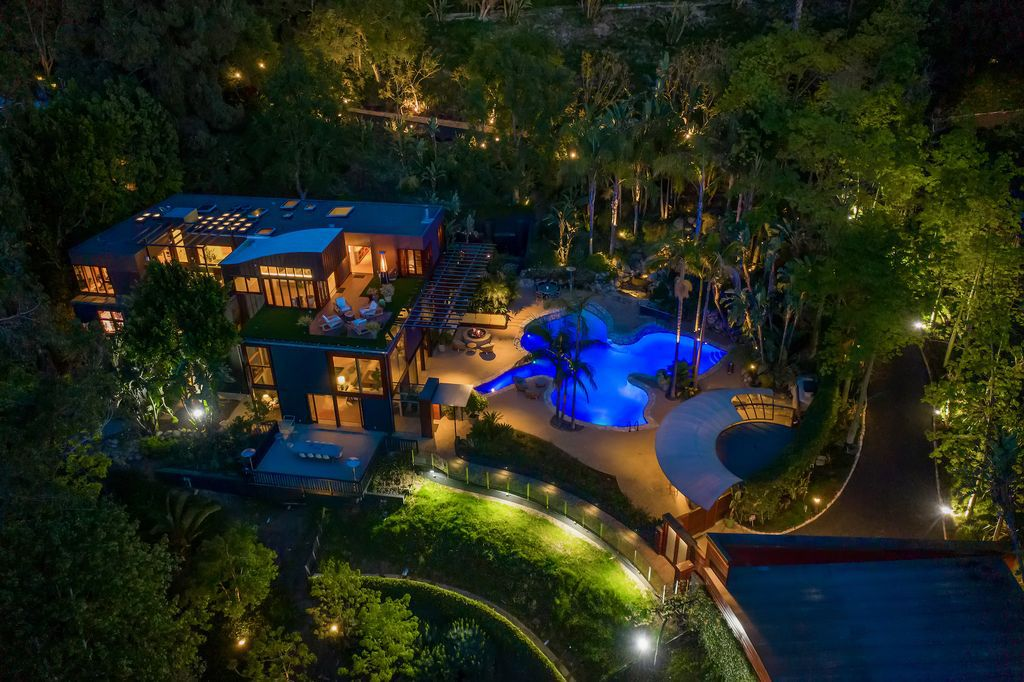 This $16,900,000 Beverly Hills Home is truly An Oasis in the city with Spectacular views