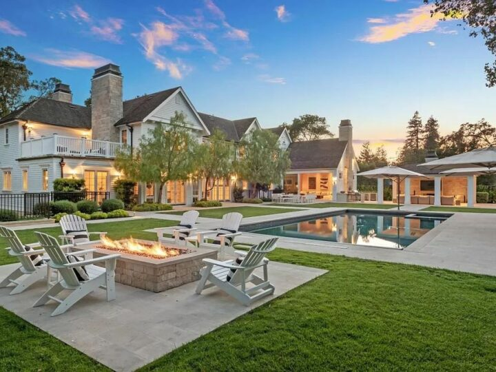 This $27,000,000 Remarkable Villa in Atherton offers Impeccable Details and Impressive Landscaping
