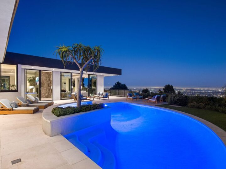 One of A Kind Hillside Home in Beverly Hills with Captivating City Views asking for $12,995,000