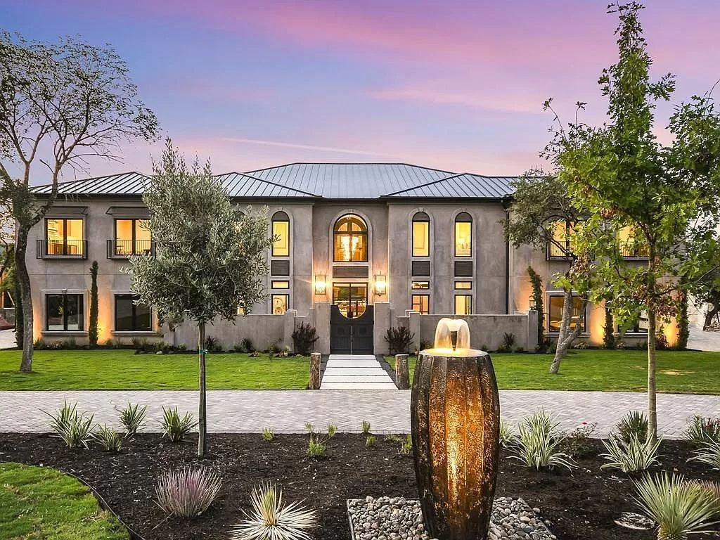The Texas Home is a newly luxurious home with Restoration Hardware furniture and light fixtures, chandeliers throughout now available for sale. This home located at 6100 Lantern View Dr, Leander, Texas