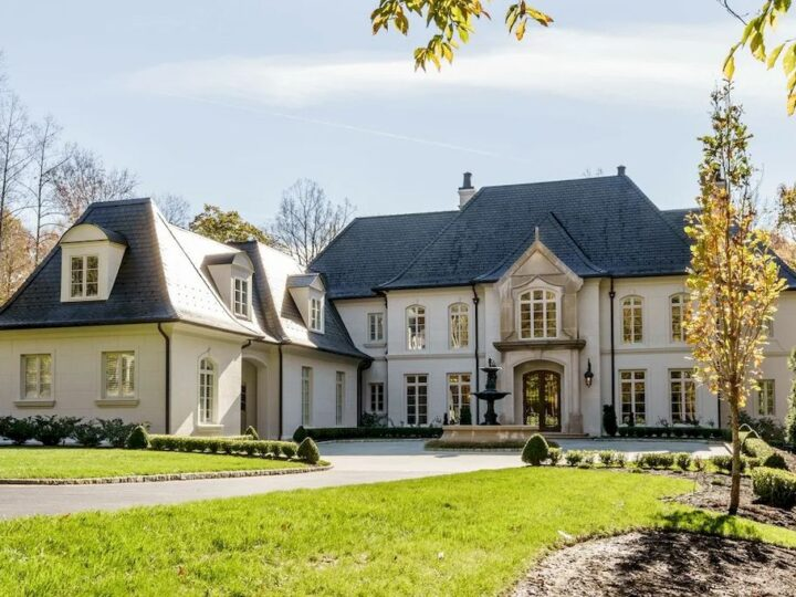 Discover Pure Luxury in this $5,500,000 French-inspired Manor in North Carolina