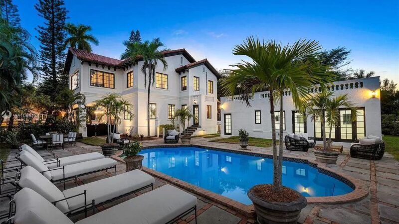 Meticulously Updated Historic Home in Miami hits Market for $6,500,000