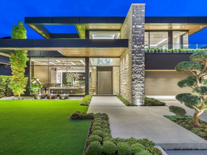 Modern Flair Embraces This C$5,998,000 Professionally Decorated Home in North Vancouver