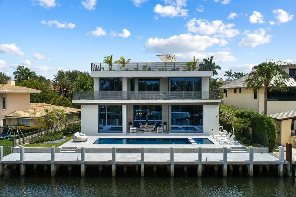 The Home in Fort Lauderdale is a stunning new construction in sought-after Seven Isles with 97′ of deep water, ocean access now available for sale. This home located at 2424 Aqua Vista Blvd, Fort Lauderdale, Florida
