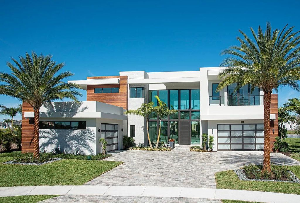 This $5,800,000 Magnificent Modern Home in Boca Raton features High End Finishes