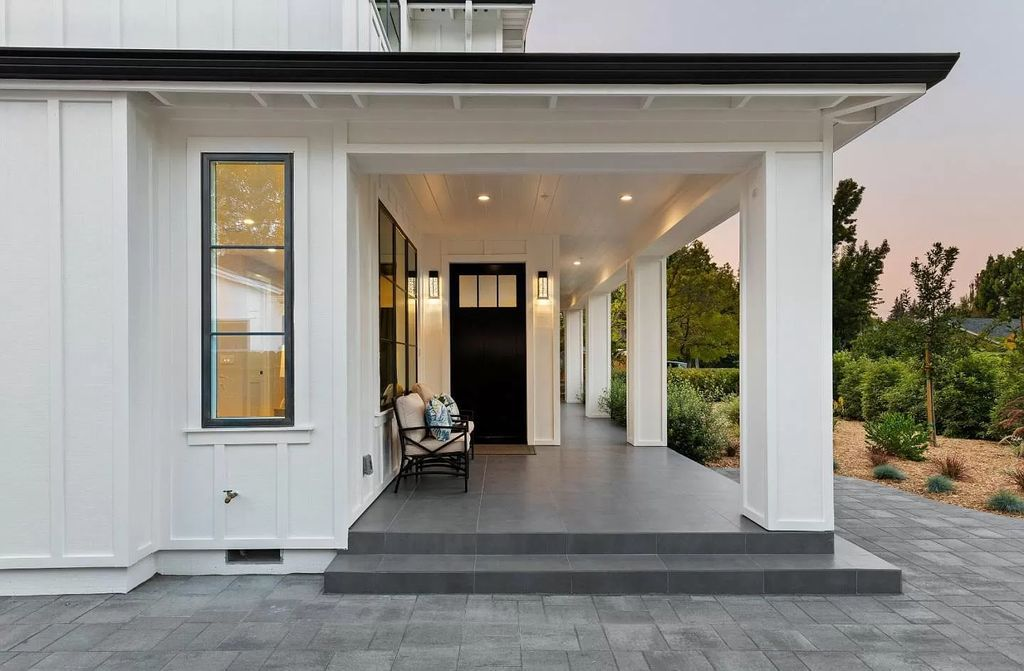 The Home in Palo Alto is a new property with smart technology is a modern interpretation of classic farmhouse style now available for sale. This home located at 2692 Ross Rd, Palo Alto, California;
