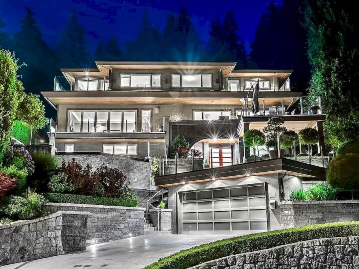 This C$4,898,000 Exquisite Property in North Vancouver Shines with Sleek Modern Details and Unique Textures